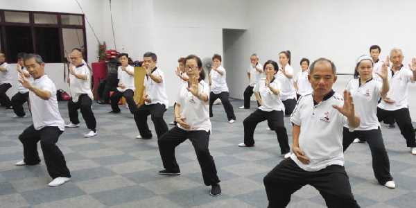 Tai Chi training in community hall powered with inverter batteries from best inverter dealers